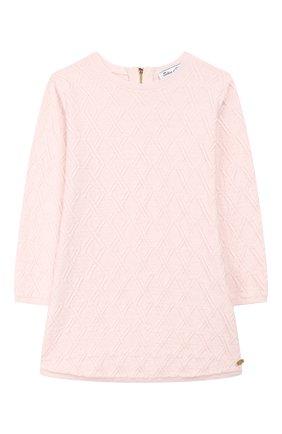 Женский платье из хлопка и шерсти TARTINE ET CHOCOLAT светло-розового цвета, арт. TP30111/4A-5A | Фото 1