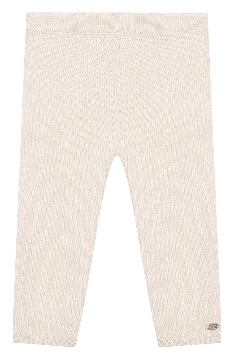 Детские кашемировые брюки TARTINE ET CHOCOLAT белого цвета, арт. TP24011/1M-1A | Фото 1
