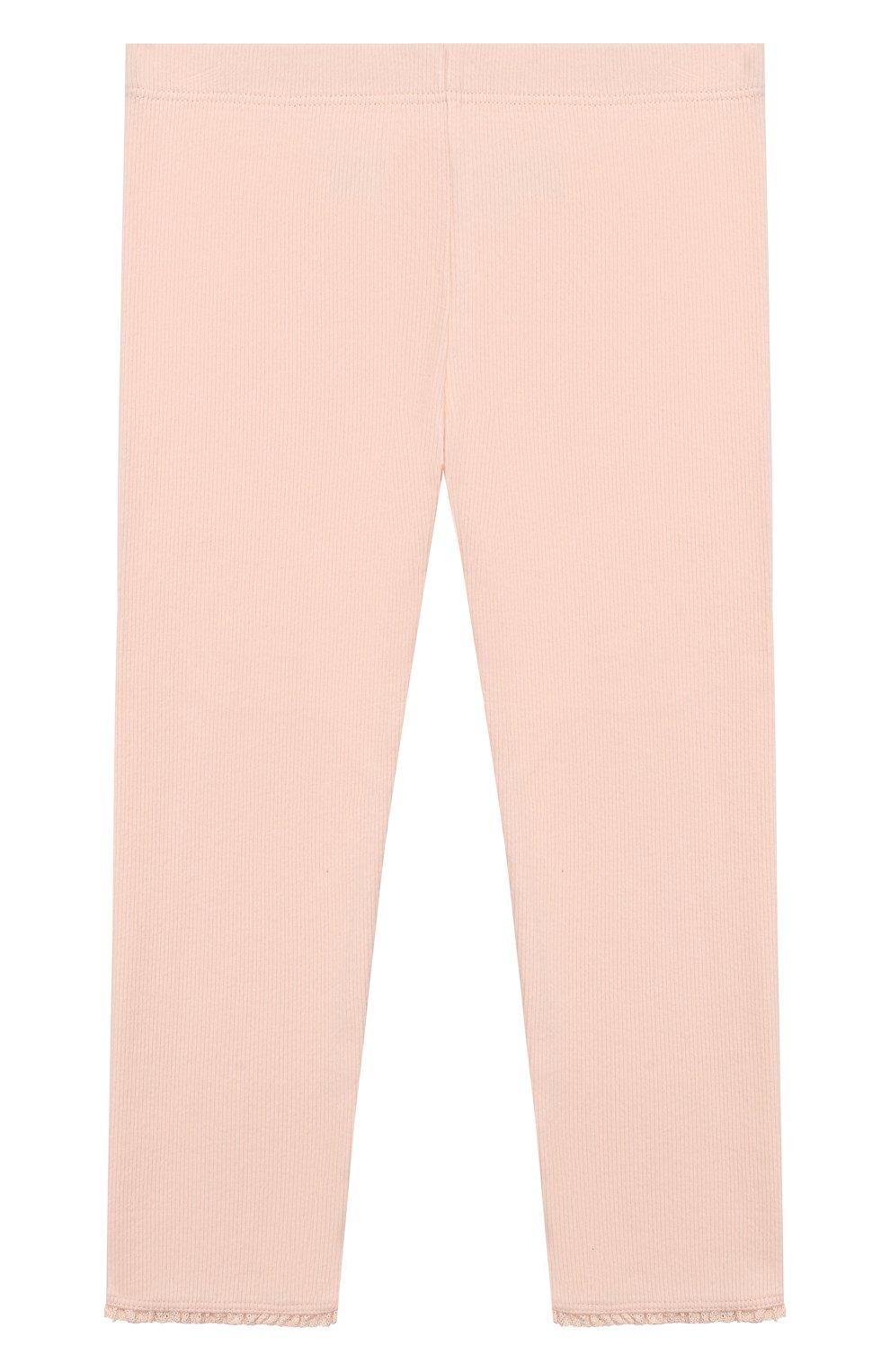 Детские хлопковые брюки TARTINE ET CHOCOLAT розового цвета, арт. TP24001/4A-5A | Фото 2 (Материал внешний: Хлопок; Статус проверки: Проверена категория; Ростовка одежда: 4 года | 104 см)