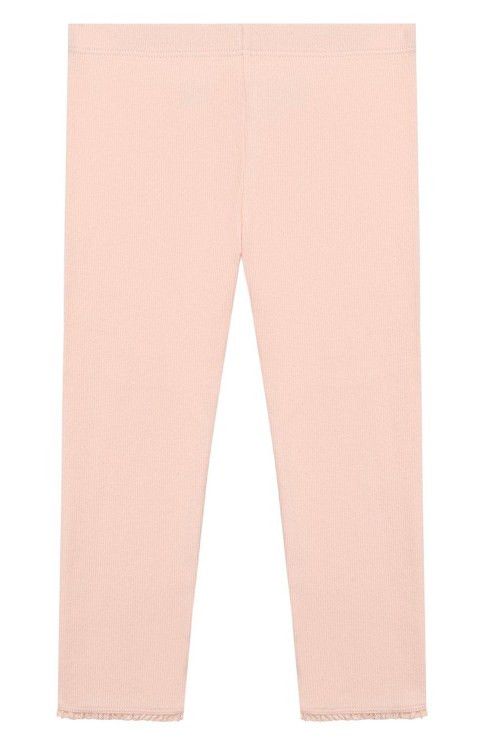 Детские хлопковые брюки TARTINE ET CHOCOLAT розового цвета, арт. TP24001/18M-3A   Фото 2 (Материал внешний: Хлопок; Ростовка одежда: 18 мес   86 см, 24 мес   92 см, 36 мес   98 см)