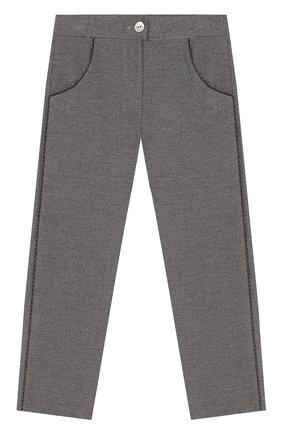 Детские хлопковые брюки TARTINE ET CHOCOLAT серого цвета, арт. TP22001/4A-5A | Фото 1