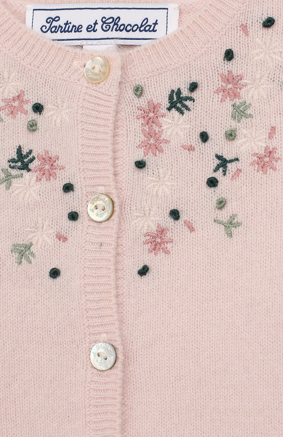 Детский шерстяной кардиган TARTINE ET CHOCOLAT светло-розового цвета, арт. TP18071/1M-1A   Фото 3