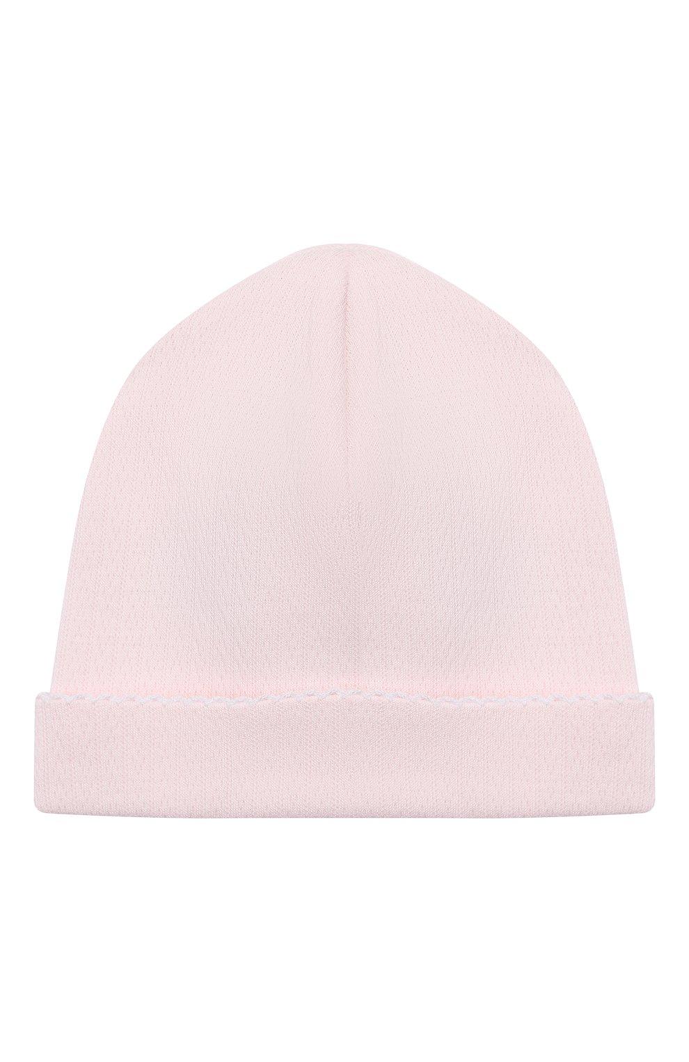 Детский комплект из распашонки с шапкой и ползунков KISSY KISSY розового цвета, арт. 141207 | Фото 6