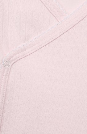 Детский комплект из распашонки с шапкой и ползунков KISSY KISSY розового цвета, арт. 141207 | Фото 8