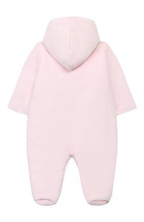 Детский утепленный комбинезон KISSY KISSY розового цвета, арт. KGN02224N | Фото 2