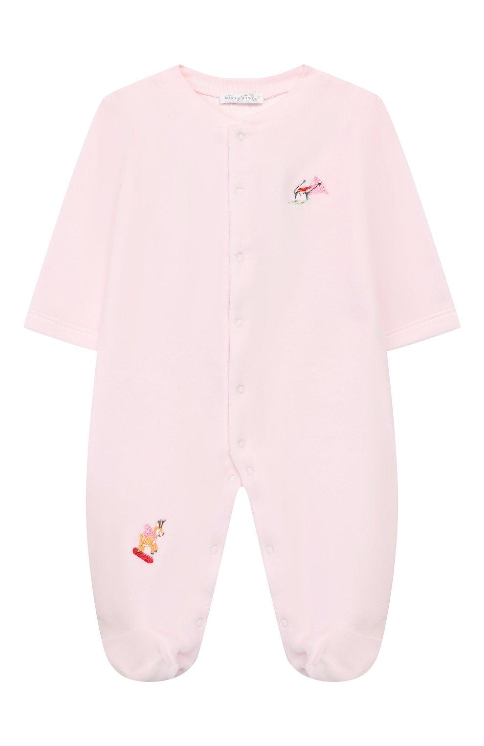 Детский хлопковый комбинезон KISSY KISSY розового цвета, арт. KGQ02545N | Фото 1