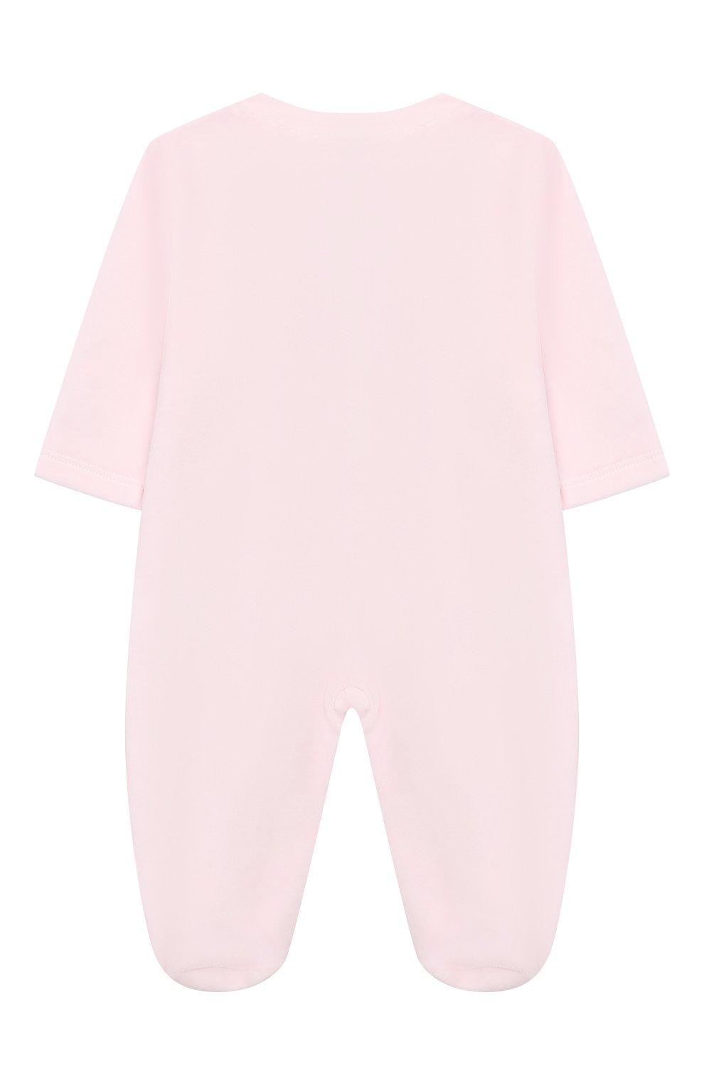 Детский хлопковый комбинезон KISSY KISSY розового цвета, арт. KGQ02545N | Фото 2