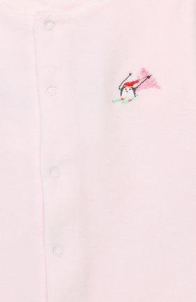Детский хлопковый комбинезон KISSY KISSY розового цвета, арт. KGQ02545N | Фото 3