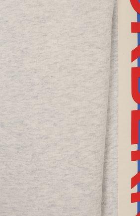 Детский хлопковый свитшот BURBERRY серого цвета, арт. 8020487 | Фото 3