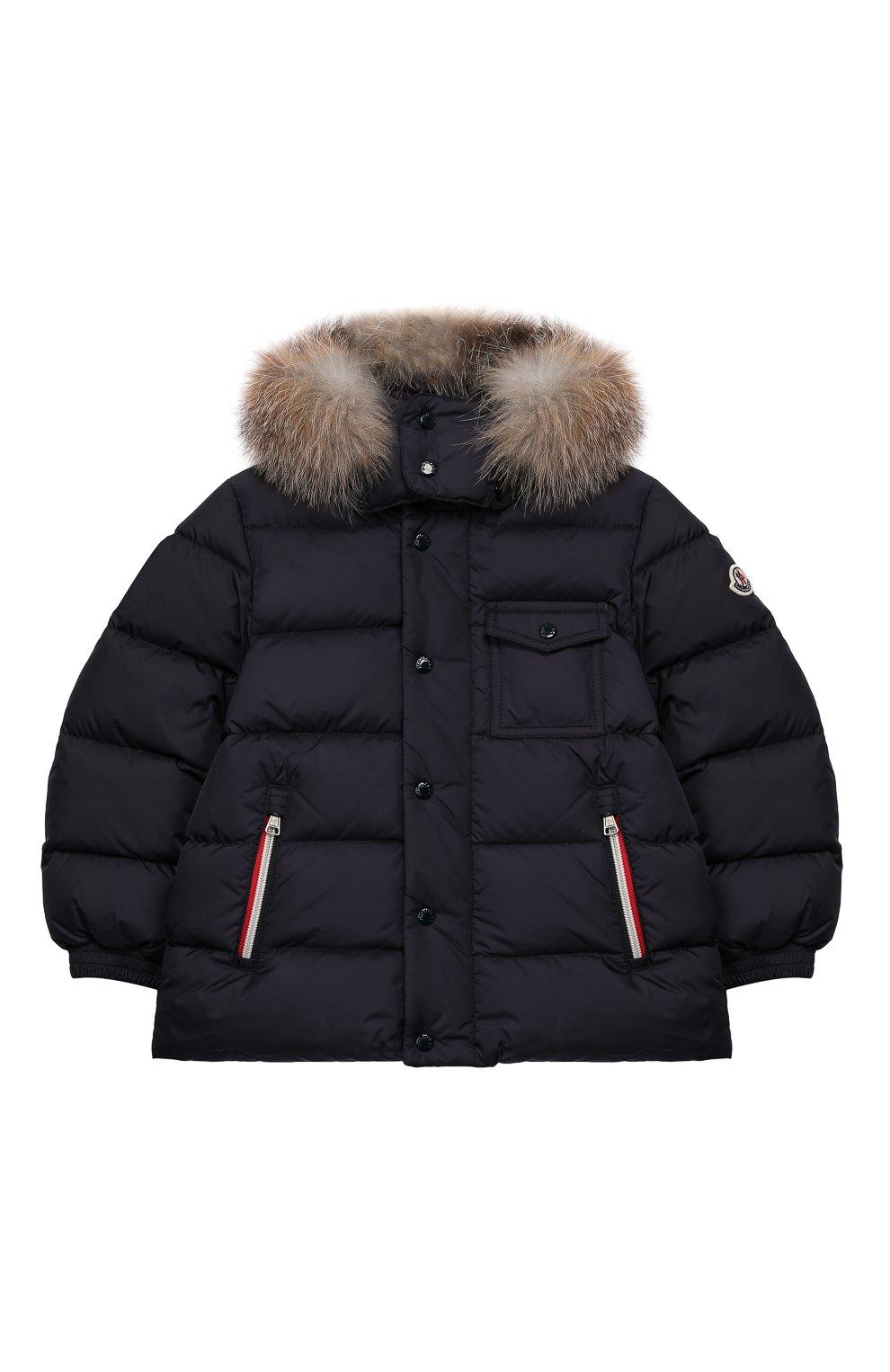 Детский комплект из куртки и комбинезона MONCLER синего цвета, арт. E2-954-70350-25-68352/4-6A | Фото 2