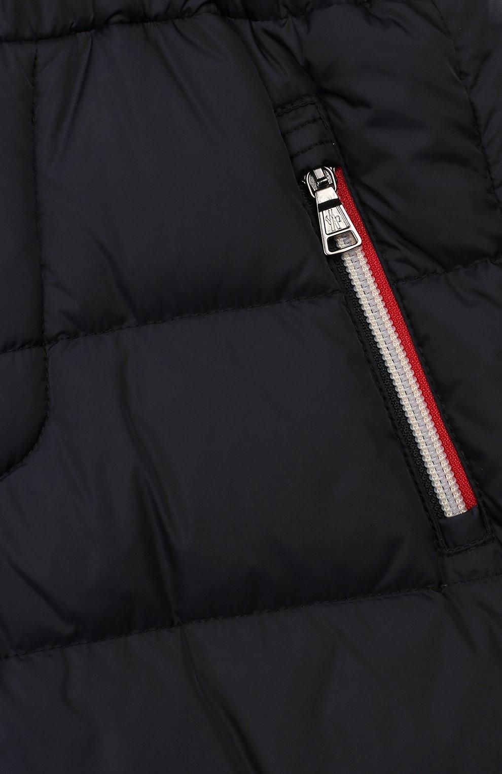 Детский комплект из куртки и комбинезона MONCLER синего цвета, арт. E2-954-70350-25-68352/4-6A | Фото 6