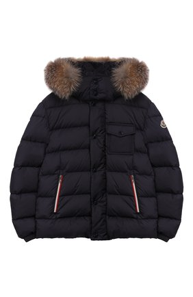 Детский комплект из куртки и комбинезона MONCLER синего цвета, арт. E2-954-70350-25-68352/12-14A | Фото 2