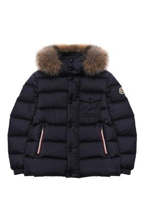 Детский комплект из куртки и комбинезона MONCLER синего цвета, арт. E2-954-70350-25-68352/8-10A | Фото 2