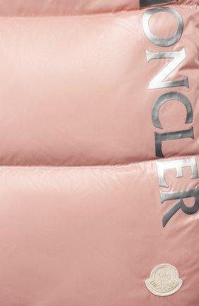 Детский конверт с меховой отделкой MONCLER ENFANT розового цвета, арт. E2-951-00800-25-68950 | Фото 3