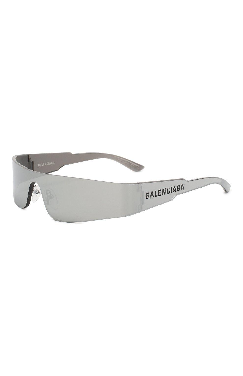 Женские солнцезащитные очки BALENCIAGA серого цвета, арт. BB0041 002   Фото 1