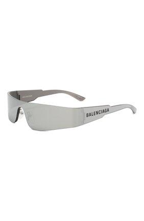 Мужские солнцезащитные очки BALENCIAGA серого цвета, арт. BB0041 002 | Фото 1