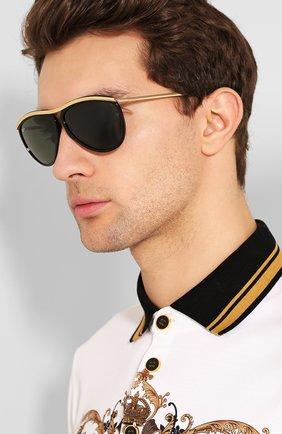 Женские солнцезащитные очки RAY-BAN черного цвета, арт. 2219-901/31 | Фото 3