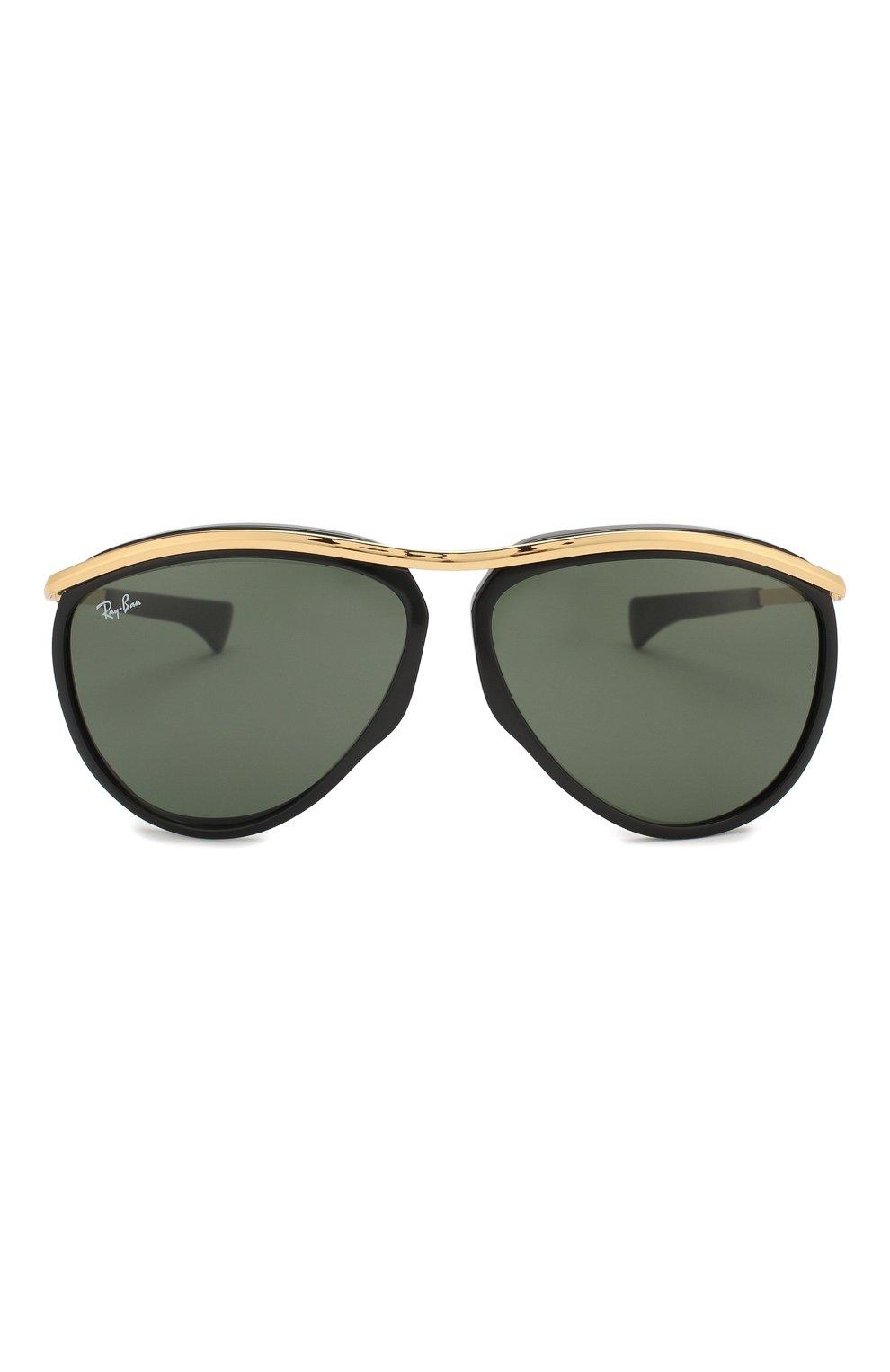 Женские солнцезащитные очки RAY-BAN черного цвета, арт. 2219-901/31 | Фото 4