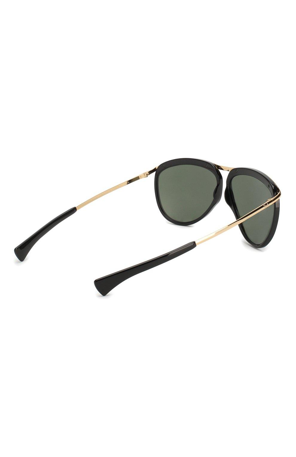 Женские солнцезащитные очки RAY-BAN черного цвета, арт. 2219-901/31 | Фото 5
