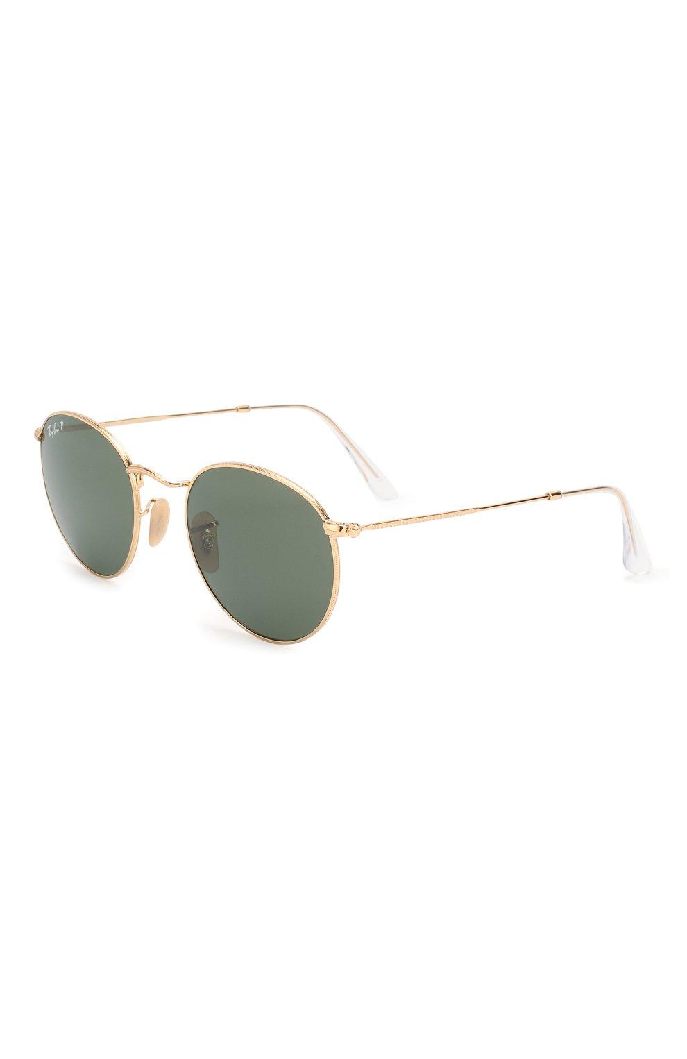 Женские солнцезащитные очки RAY-BAN золотого цвета, арт. 3447-001/58 | Фото 1