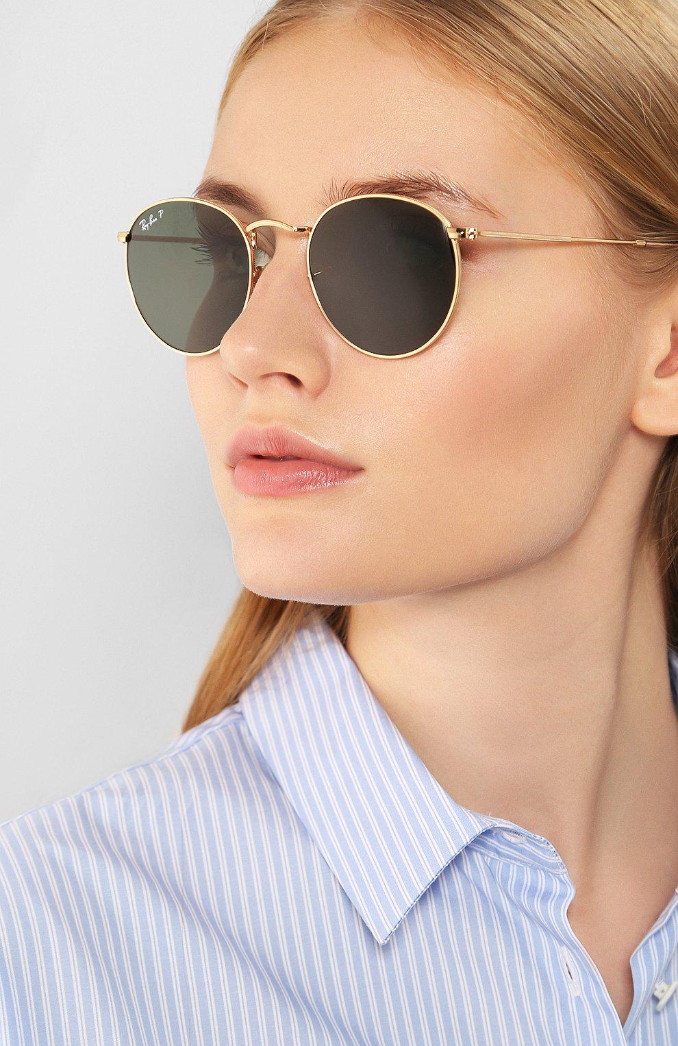 Женские солнцезащитные очки RAY-BAN золотого цвета, арт. 3447-001/58 | Фото 2