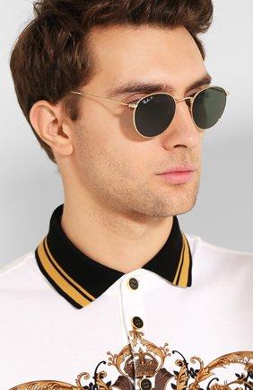Женские солнцезащитные очки RAY-BAN золотого цвета, арт. 3447-001/58 | Фото 3