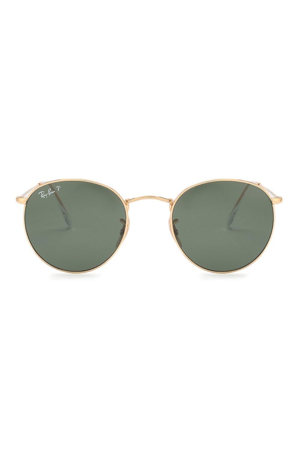 Женские солнцезащитные очки RAY-BAN золотого цвета, арт. 3447-001/58 | Фото 4