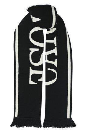 Мужские шерстяной шарф CANADA GOOSE черного цвета, арт. 5508L | Фото 1