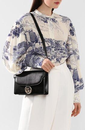 Женская сумка gg ring small GUCCI черного цвета, арт. 589474/1DB0G | Фото 2