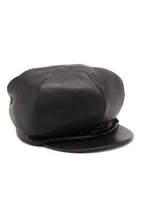Женская кожаная кепка BALMAIN черного цвета, арт. SN0A016/A020 | Фото 1