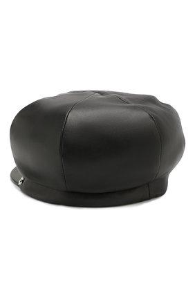 Женская кожаная кепка BALMAIN черного цвета, арт. SN0A016/A020 | Фото 2