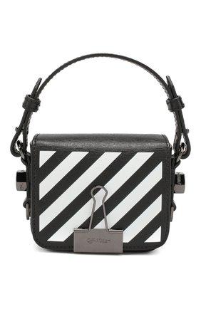 Женская сумка diag binder clip baby OFF-WHITE черно-белого цвета, арт. 0WNA087E194231071001 | Фото 1
