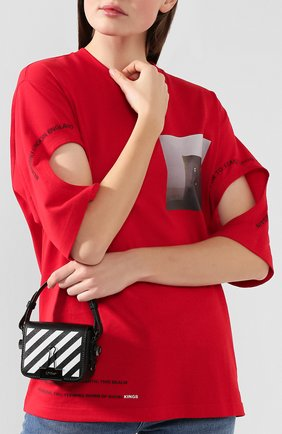 Женская сумка diag binder clip baby OFF-WHITE черно-белого цвета, арт. 0WNA087E194231071001 | Фото 2