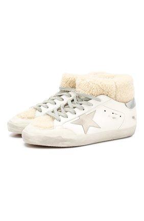 Женские кожаные кеды superstar GOLDEN GOOSE DELUXE BRAND белого цвета, арт. G35WS590.S17 | Фото 1
