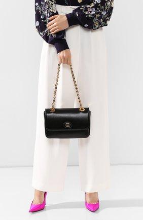 Женская сумка marina small GUCCI черного цвета, арт. 576421/1DB0X | Фото 2