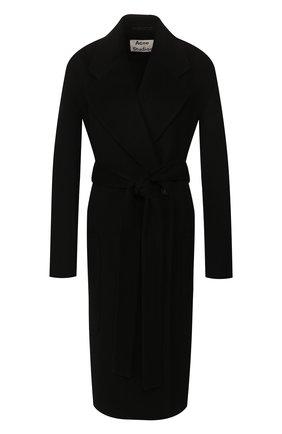 Женское шерстяное пальто ACNE STUDIOS черного цвета, арт. A90185 | Фото 1