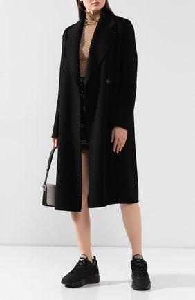 Женское шерстяное пальто ACNE STUDIOS черного цвета, арт. A90185 | Фото 2