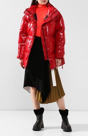 Женский пуховая куртка ACNE STUDIOS красного цвета, арт. A90144 | Фото 2