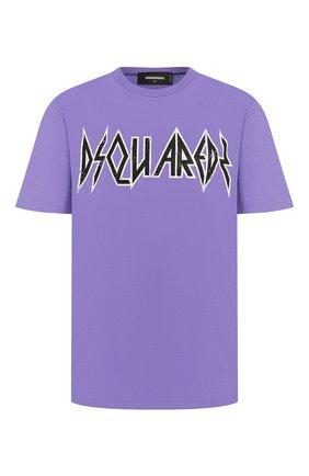 Женская хлопковая футболка DSQUARED2 фиолетового цвета, арт. S72GD0191/S21600 | Фото 1