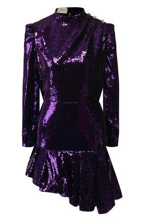 Женское платье с пайетками GIUSEPPE DI MORABITO фиолетового цвета, арт. PF19097DR-33-09   Фото 1