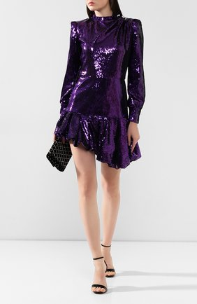 Женское платье с пайетками GIUSEPPE DI MORABITO фиолетового цвета, арт. PF19097DR-33-09   Фото 2