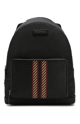 Мужской текстильный рюкзак ERMENEGILDO ZEGNA черного цвета, арт. C1390P-LHPRD   Фото 1