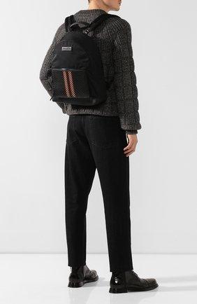 Мужской текстильный рюкзак ERMENEGILDO ZEGNA черного цвета, арт. C1390P-LHPRD   Фото 2