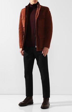 Мужские кожаные ботинки ERMENEGILDO ZEGNA темно-коричневого цвета, арт. A4288X-LHELK | Фото 2