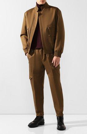 Мужские кожаные ботинки ERMENEGILDO ZEGNA черного цвета, арт. A4288X-LHELK   Фото 2