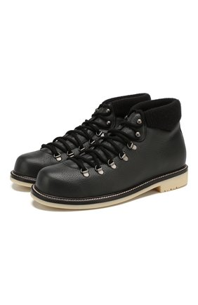 Мужские кожаные ботинки laax walk LORO PIANA темно-серого цвета, арт. FAI3473 | Фото 1