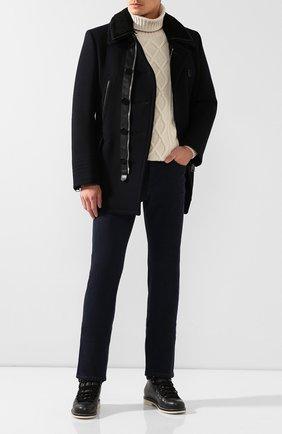 Мужские кожаные ботинки laax walk LORO PIANA темно-серого цвета, арт. FAI3473 | Фото 2