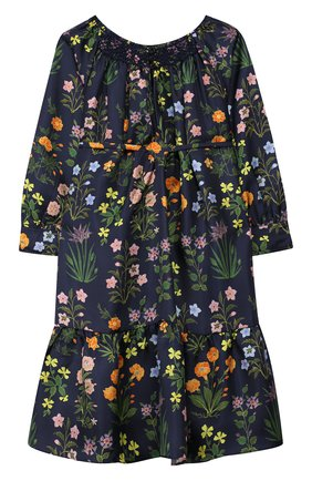 Детское шелковое платье OSCAR DE LA RENTA синего цвета, арт. 19FGE678FI | Фото 1