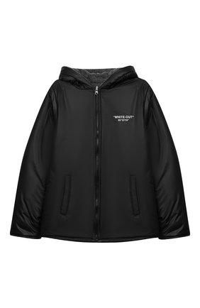 Детского двусторонняя куртка с капюшоном PAOLO PECORA MILANO темно-серого цвета, арт. PP2034/6Y-12Y | Фото 1