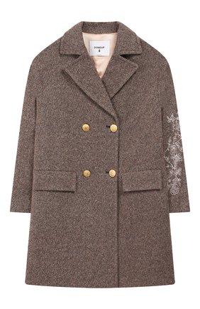Детское шерстяное пальто DONDUP коричневого цвета, арт. YJ235/TY0028G/040 | Фото 1